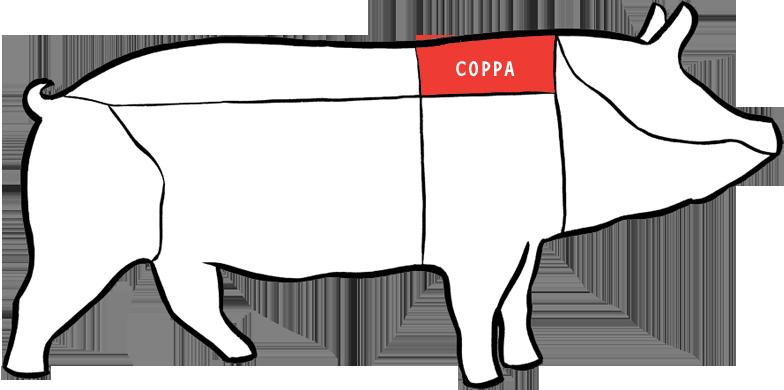 copa pescoço sobrepaleta suína porco