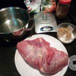 Peito bovino limpo para corned beef
