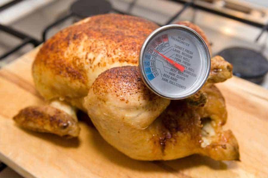 frango assado temperatura termometro