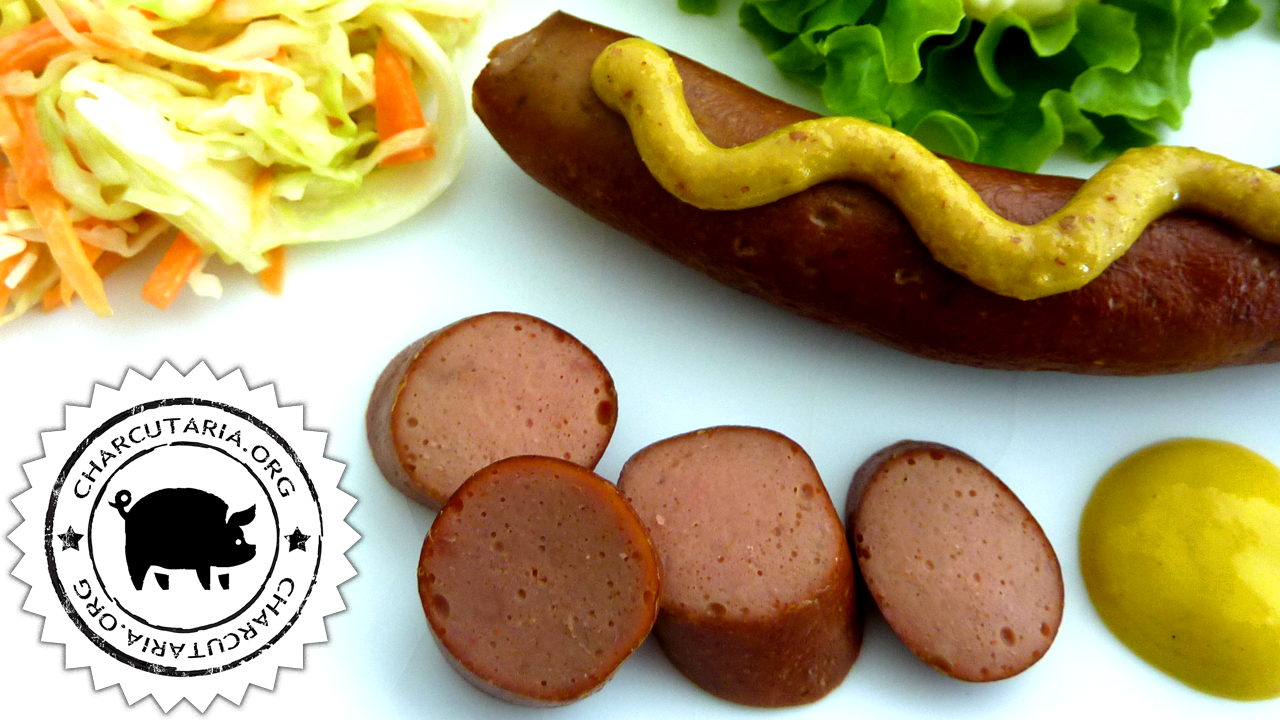 salsicha frankfurter sausage hot dog homemade charcuterie charcutaria